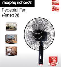 pedestal fan lowest price morphy richards vento pedestal fan rs 36 cashback rs 1797