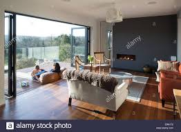 interior view lounge and balcony upside down house balcombe united