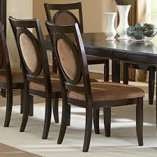 furniture rustic oval back parsons dining chairs for classic