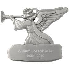 engravable with trumpet pewter ornament