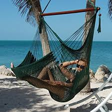 amazon com large caribbean hammock chair 48 inch polyester