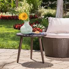 Wicker Accent Table Outdoor Side U0026 Coffee Tables U2013 Gdf Studio