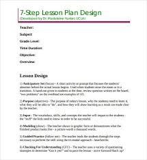 sample madeline hunter lesson plan template u2013 7 free documents in
