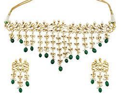 green stones necklace images Buy mehrunnisa traditional high quality kundan green stones jpg