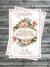 thanksgiving potluck invitation free potluck thanksgiving flyer template design psd