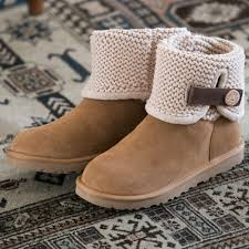 womens ugg boots chestnut womens ugg shaina knit boot brown 581644