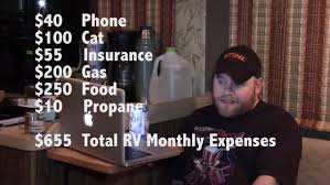 why you should live in an rv how much i spend to live in my rv youtube