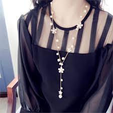 long flower necklace images Wholesale new fashion simple design trendy romantic style plastic jpg