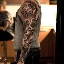religious sleeve tattoos and tatting