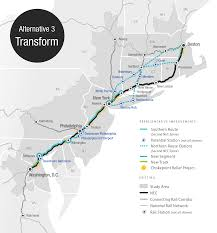 Train In Boston Map by Three New Visions For Northeast Rail