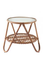 round rattan side table furniture beautiful dark brown round wicker side table for small