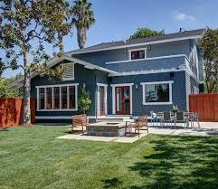 giving an old california craftsman new curb appeal blue siding