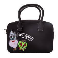 queen handbag disney evil queen loungefly black flocked handbag zing pop culture