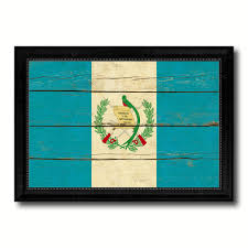 guatemala country flag vintage canvas print with black picture