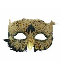 maker u0027s halloween owl mask with feathers brown joann