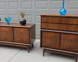 Dresser And Nightstand Sets Mid Century Bedroom Set Etsy