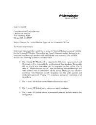 Certification Approval Letter Bt010m 10 Meter Bt Module Cover Letter Cover Letter Honeywell