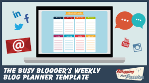 the busy blogger u0027s weekly blog planner template