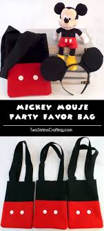 mickey mouse favor bags mickey mouse party favor bag two crafting