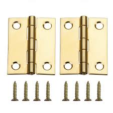 Mortise Interior Door Hardware Shop Gatehouse Door Hardware Hinges 2 Pack 2 In H Brass Plated
