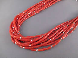 coral necklace silver images 10 strand coral necklace with sterling silver accents navajo jpg