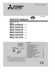 mitsubishi msz fh25ve msz fh35ve sm service manual download