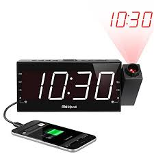 bedroom clocks amazon com upgraded version mesqool 7 projection alarm clock
