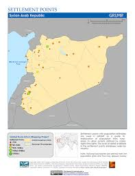 Maps Syria by Maps Global Rural Urban Mapping Project Grump V1 Sedac