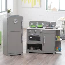 classic playtime 2 pc classic wooden play kitchen set gray