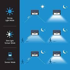 mpow solar light instructions mpow solar lights outdoor 20 led bright motion sensor security wall