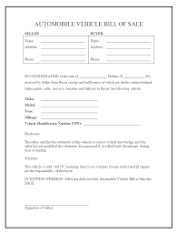 Free Sle Of Bill Of Sale For Used Car by Printable Sle Auto Bill Of Sale Form Forms And Template