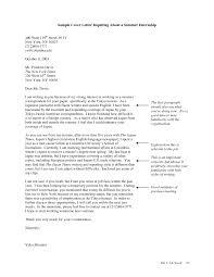 job application letter for summer internship free resume cover