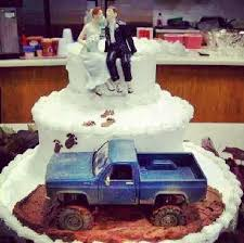 cool cake toppers wedding cake wedding cakes mud truck wedding cake toppers