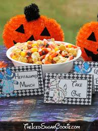 heffalumps and woozles food label tent cards diy halloween trick