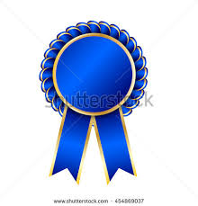 blue and gold ribbon gold seal quality template label award stock vector 454869037