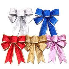 christmas ribbon bows 8 colors large silver gold christmas ribbon bow christmas tree