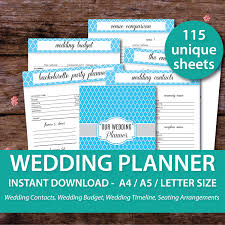 of honor planner wedding planner binder printable wedding planner organizer