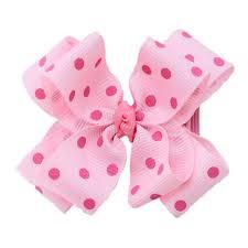 pink hair bow 2 5 azalea white dot hair bow