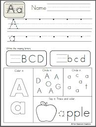 free alphabet letter a writing practice preschool pinterest