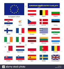 Conutry Flags European Union Country Flags Member States Eu Stock Photo
