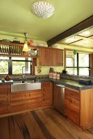 kitchen wooden furniture wood floors wood cabinets concrete countertop kitchen
