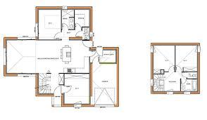 plan maison 4 chambres etage maison traditionnelle à étage 110 m 4 chambres