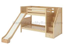 Wood Loft Bed With Desk Plans by Best 25 Bunk Bed With Slide Ideas On Pinterest Unique Bunk Beds