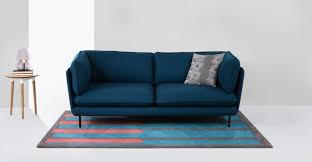 couch 3 sitzer wes 3 sitzer sofa petrolblau made com