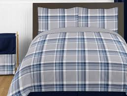 Plaid Bed Set Sweet Jojo Designs Plaid Comforter Set Reviews Wayfair