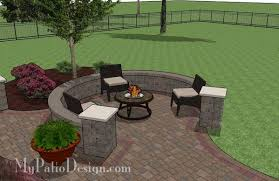 Large Paver Patio Design With Grill Station Bar Plan No by Large Curvy Patio Design With Grill Station U0026 Seat Walls