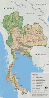 map of thailand large scale detailed overview map of thailand vidiani maps
