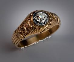 mens rings sale images Vintage solitaire diamond gold mens ring for sale antique russian jpg