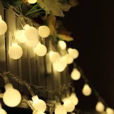 round bulb fairy lights new 10m 100 bulbs matte globes round balls led fairy string lights