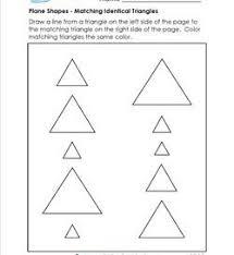 triangles worksheets kindergarten shapes a wellspring